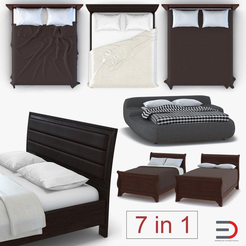beds set design model
