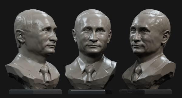 3D model putin v smile