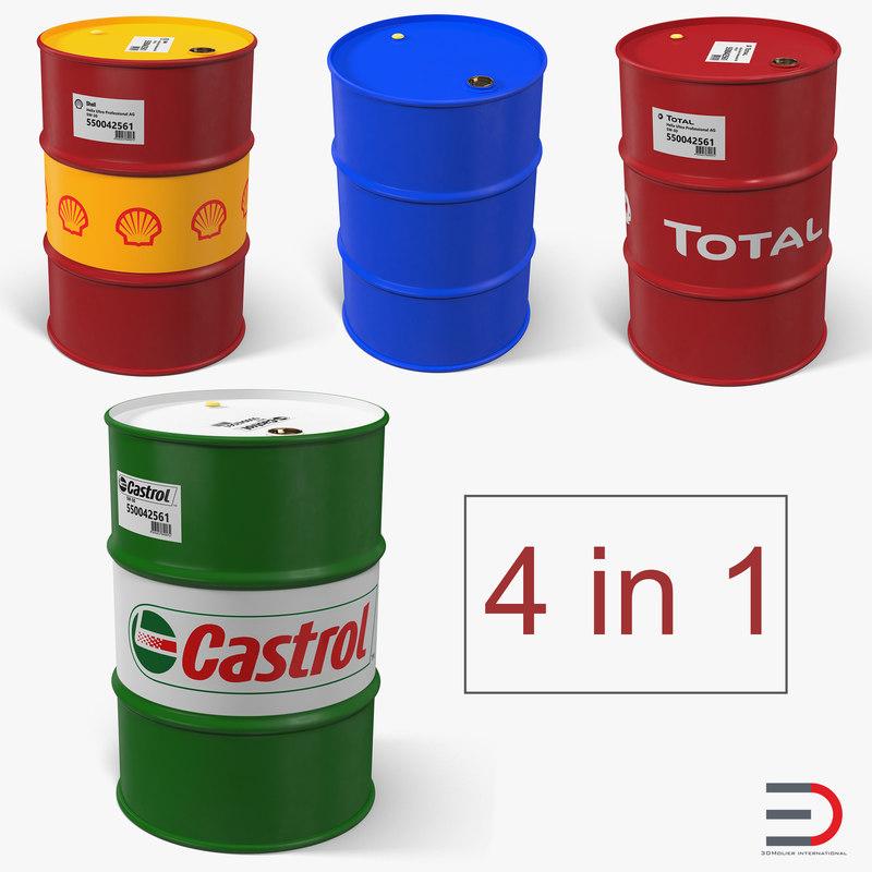 3D oil barrels