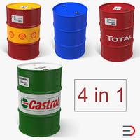 Oil Barrels 3D Models Collection