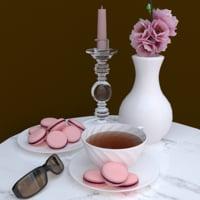 macaron tea set model
