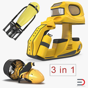 3D underwater scooters model