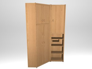 cupboard alder 3D