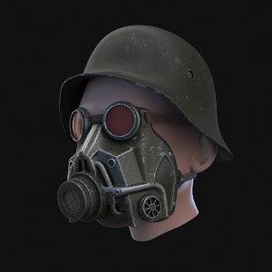 3D gas mask german