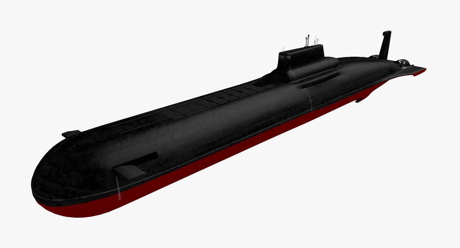 3D submarine sub typhoon model