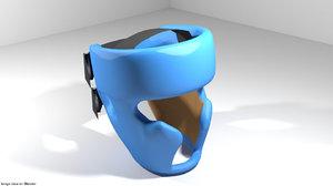 3D headguard martial art model