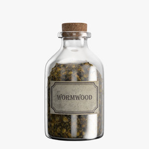 3D bottle wormwood