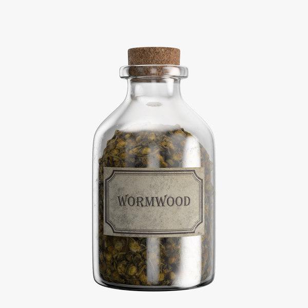 3D bottle wormwood