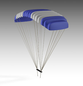parachute chute chut 3D model