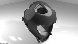 guard headguard martial 3D model
