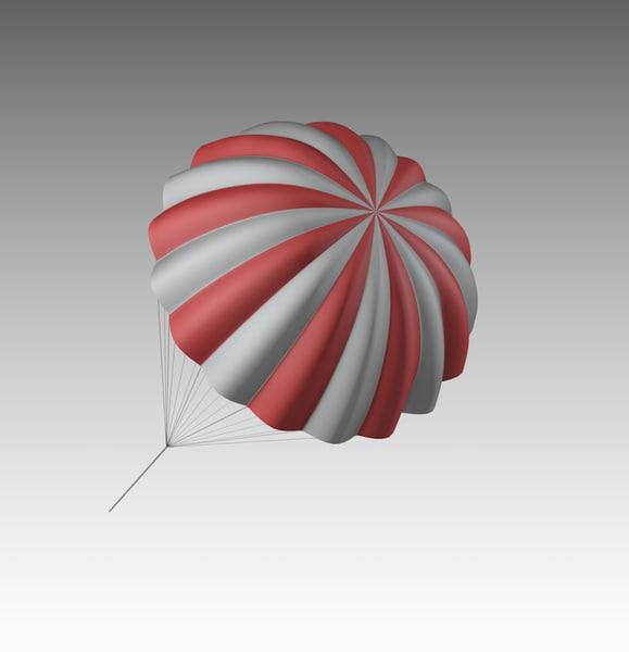 brake parachute chute 3D model