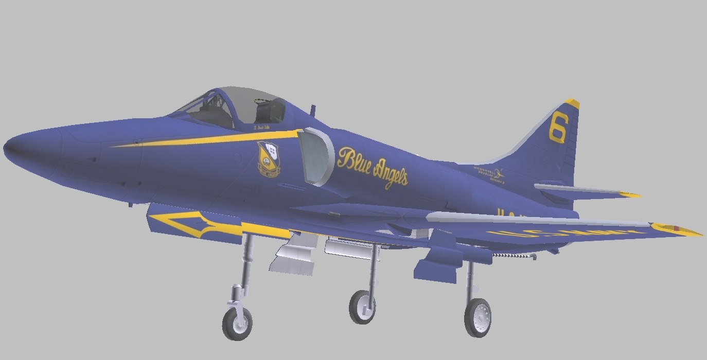 a-4 skyhawk blue angels 3D model