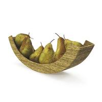 3D model pears bowl1