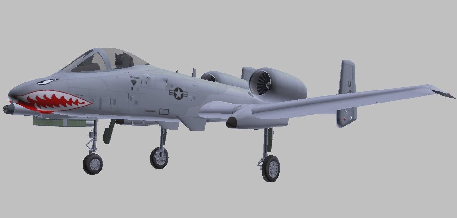 fairchild a-10 thunderbolt ii 3D model