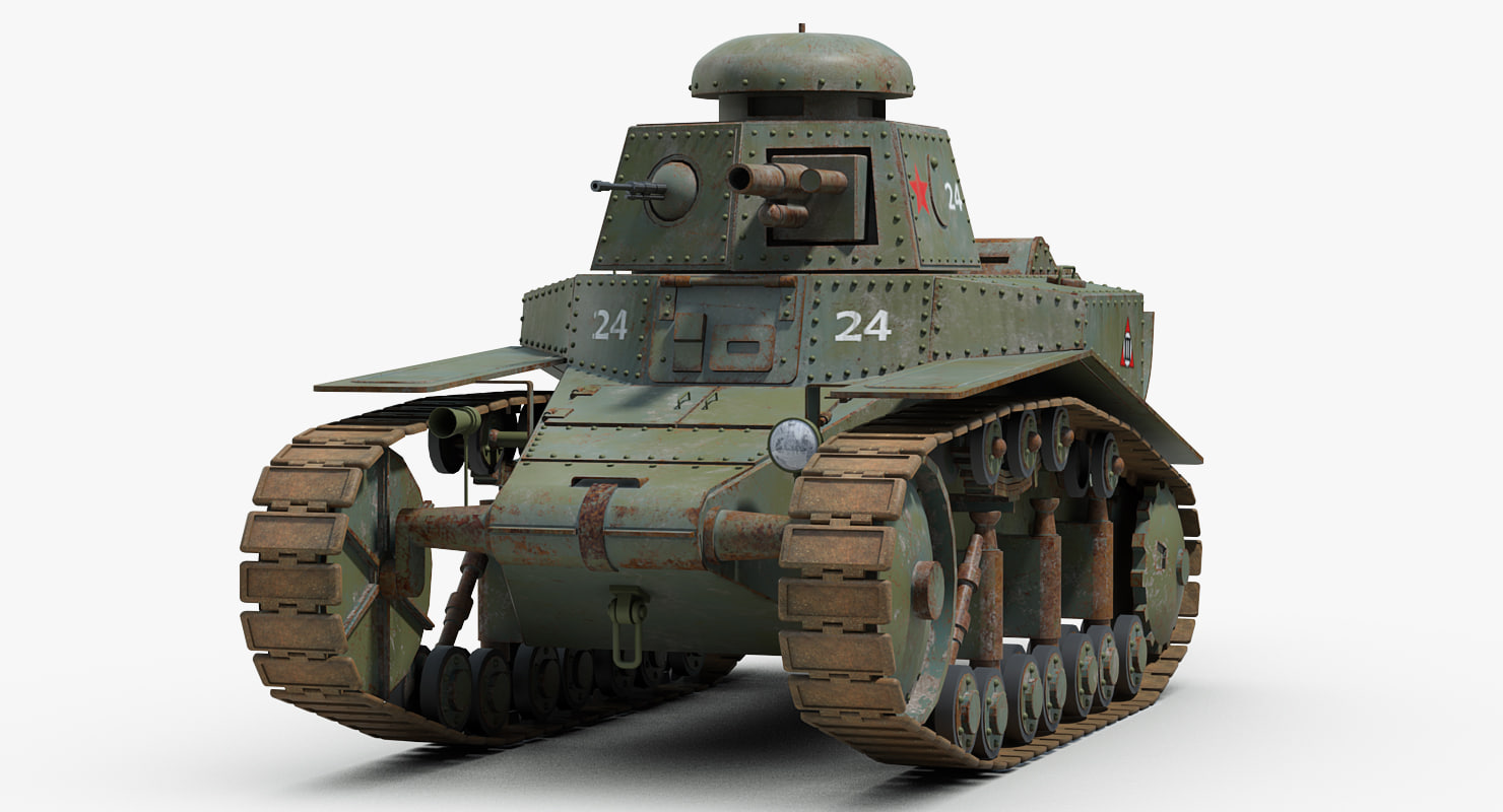 D ww soviet t light tank turbosquid