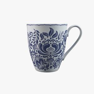 porcelain mug 3D model