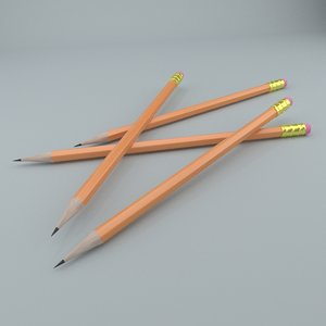 pencil cycles 3D model