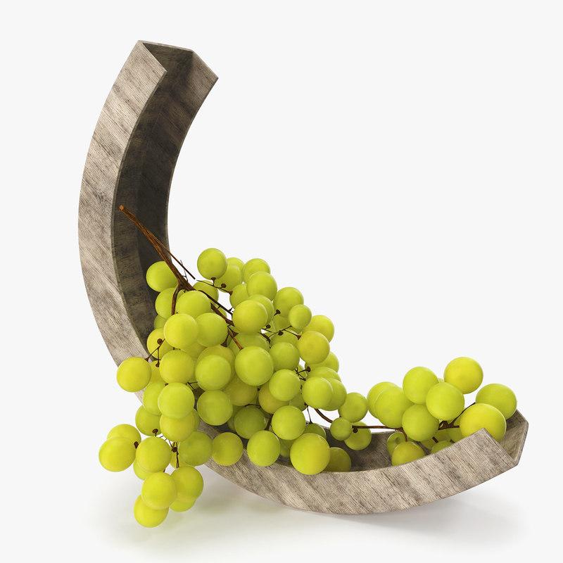 green grapes bowl model