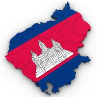 3D model cambodia political