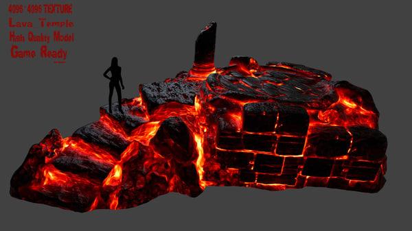 lava temple 3D