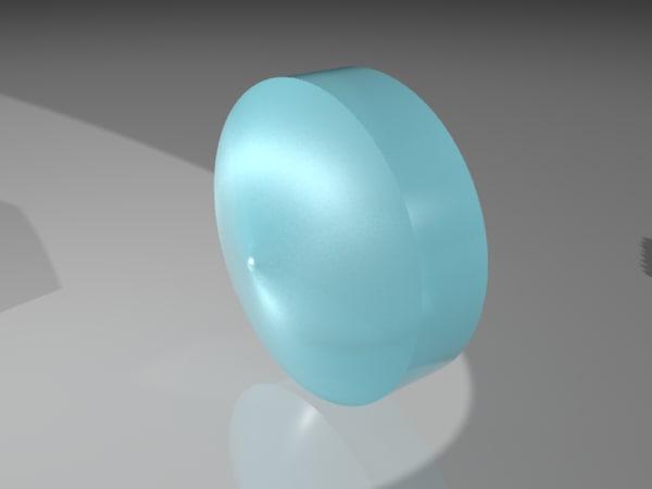 axicon lens 3D model
