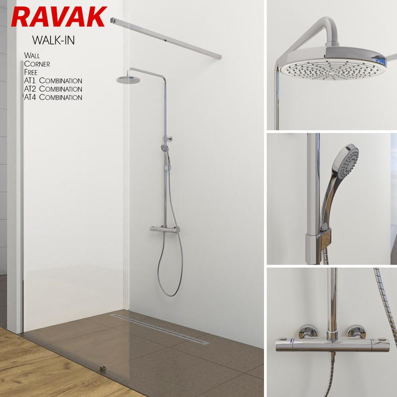 room shower 3D model