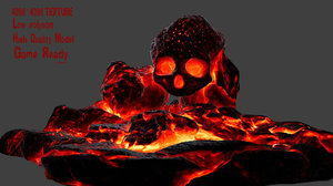 3D skull cave model