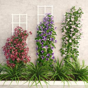 flower wall 3D model