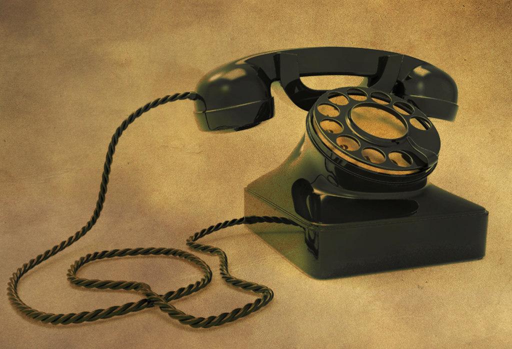old retro telephone 3D model