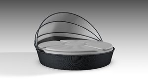 3D circular daybed day model