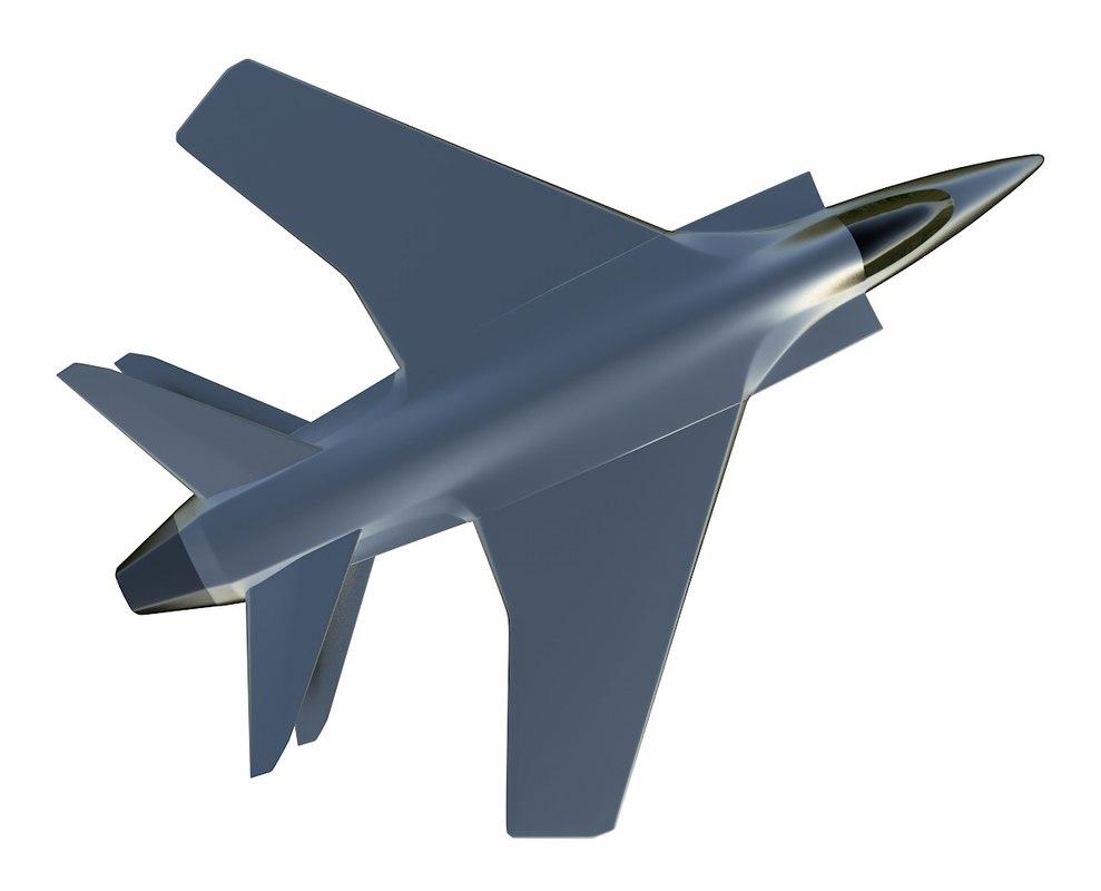 fighter jet prototype 3D