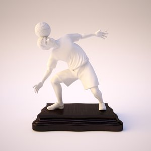 freestyle soccer player trophy 3D model