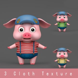 cartoon pig model