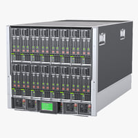 3D photoreal blade server computer