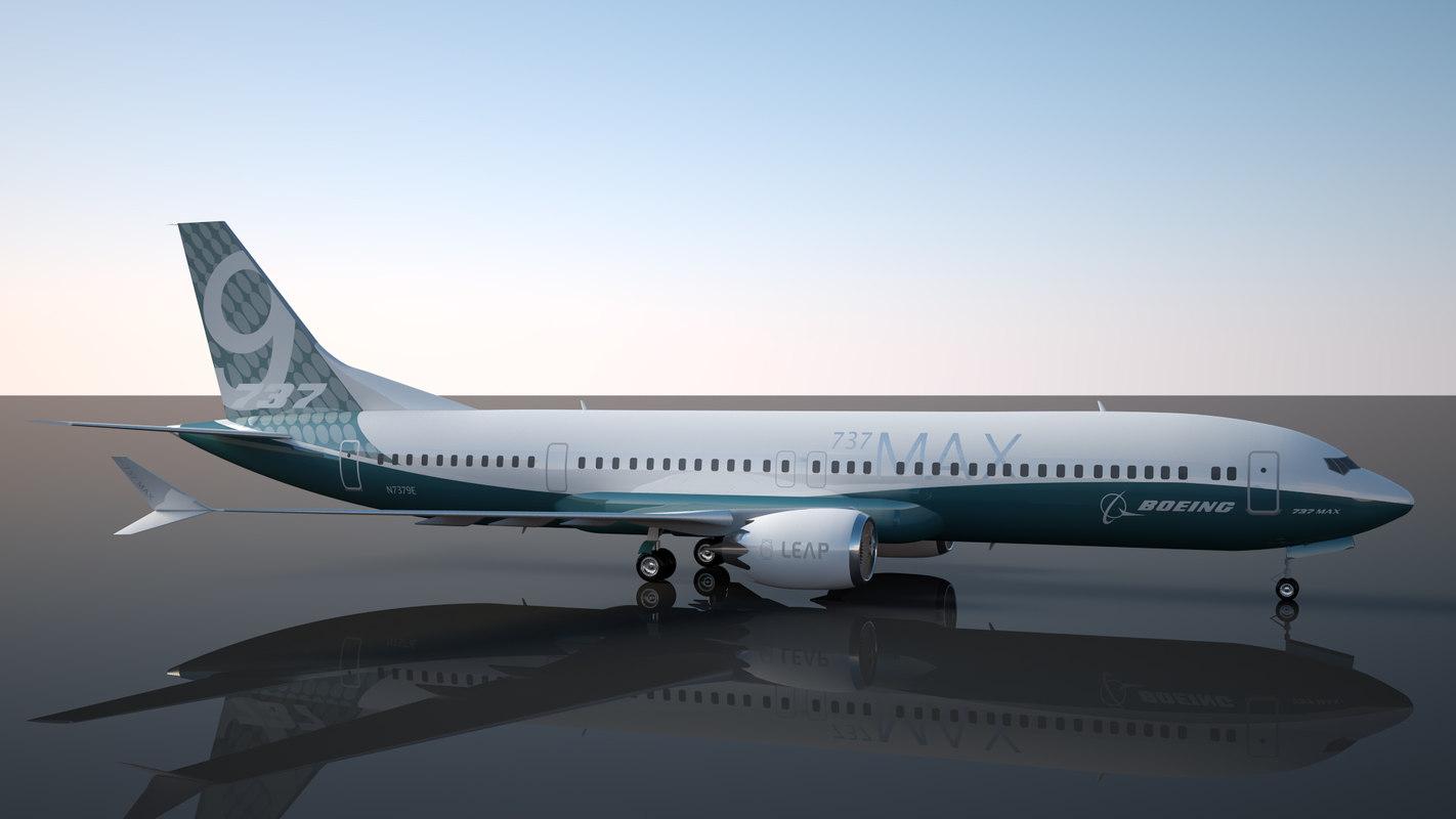 3D boeing 737 - 9 model