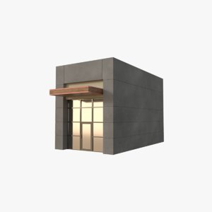 strip mall store unit 3D
