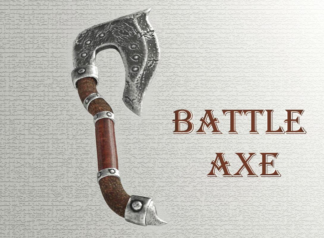 axe battle 3D model