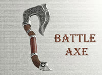 axe battle 3D model