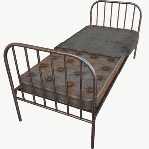 old bed 3D