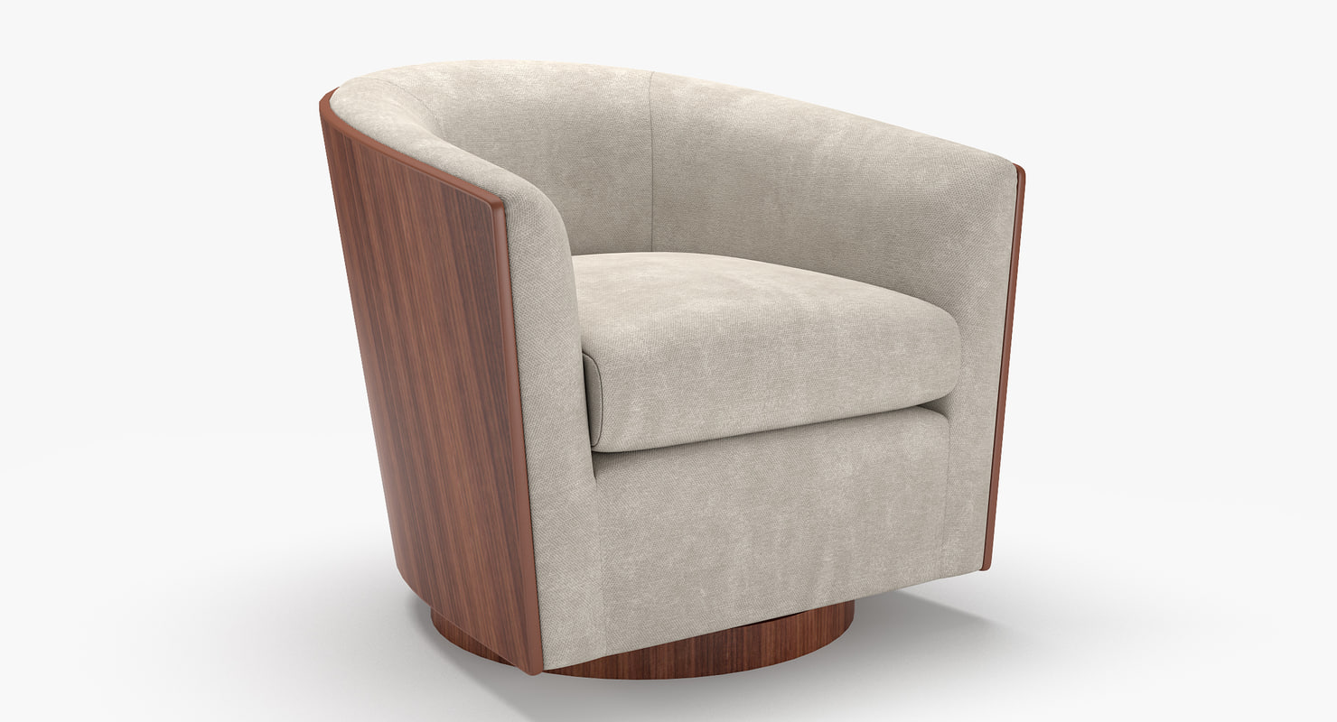 3d Swivel Luther Chairs Turbosquid 1169383