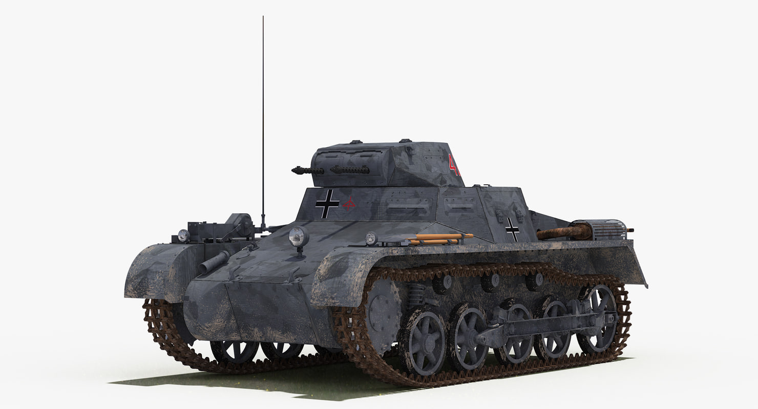3D panzerkampfwagen ausf sd kfz model