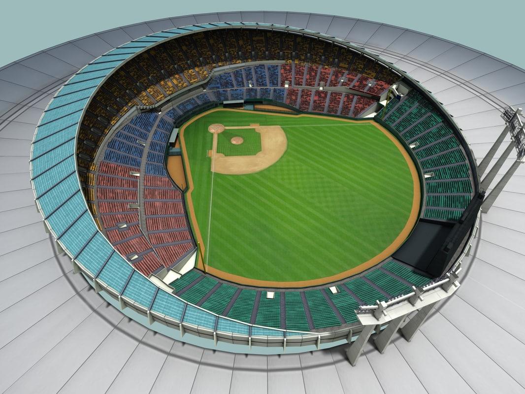 baseball stadium 3d model turbosquid 1169387
