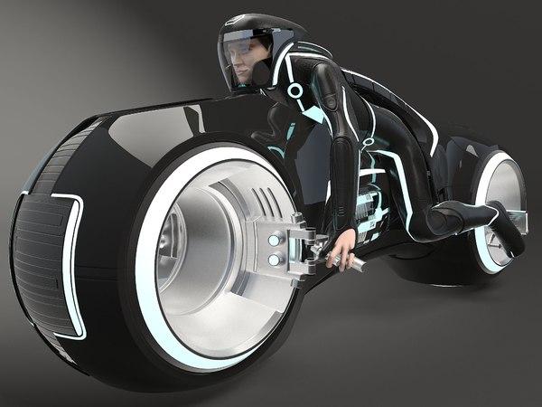 3D tron bike light