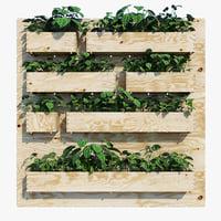 3D planter box model
