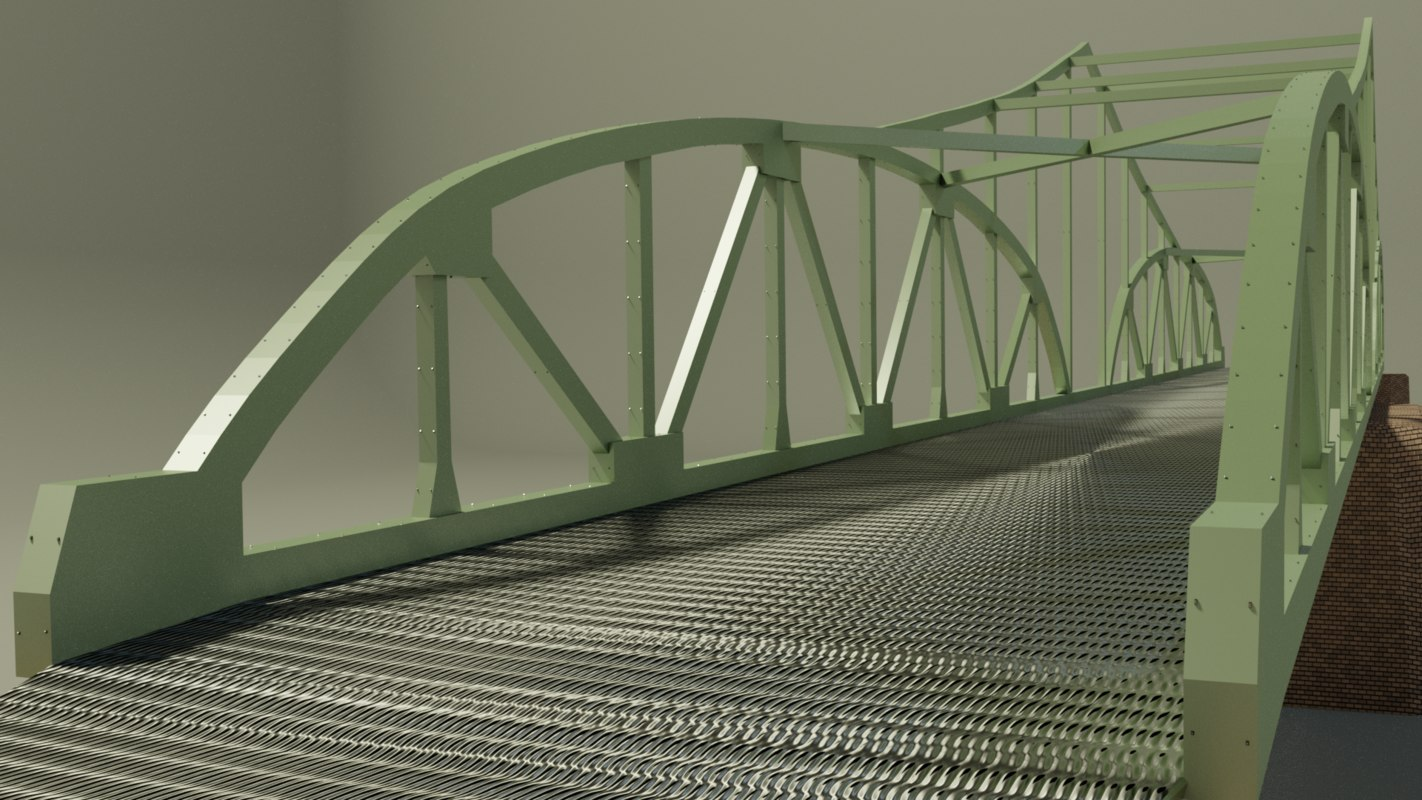 3D steel bridge