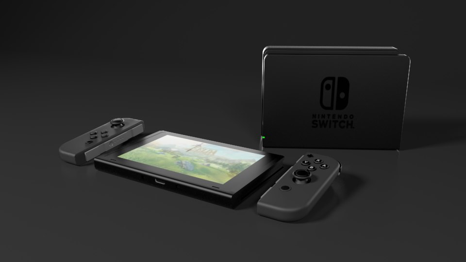 3D model nintendo switch