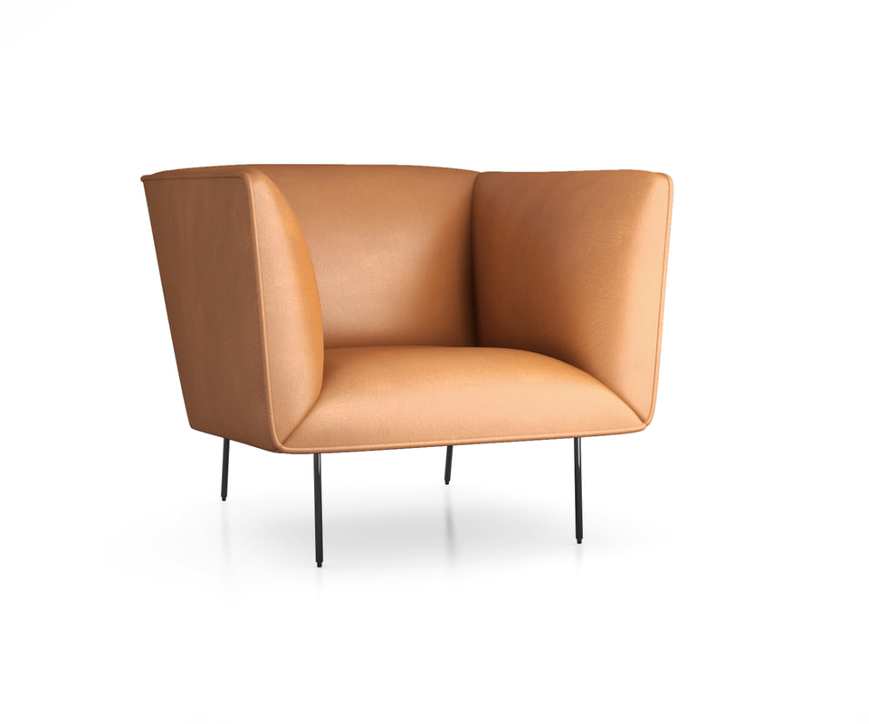 dandy leather lounge 3D model
