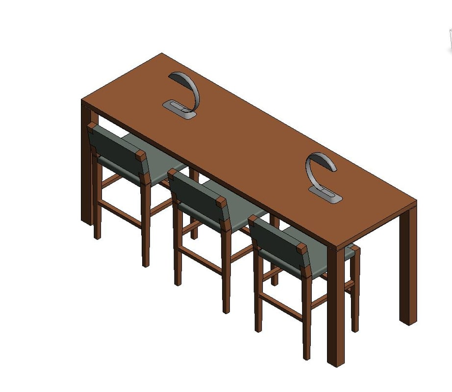 chair table model