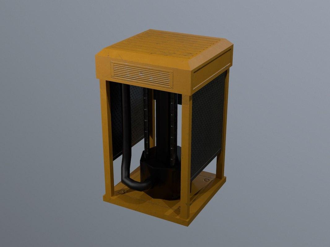 3D model sci-fi asset