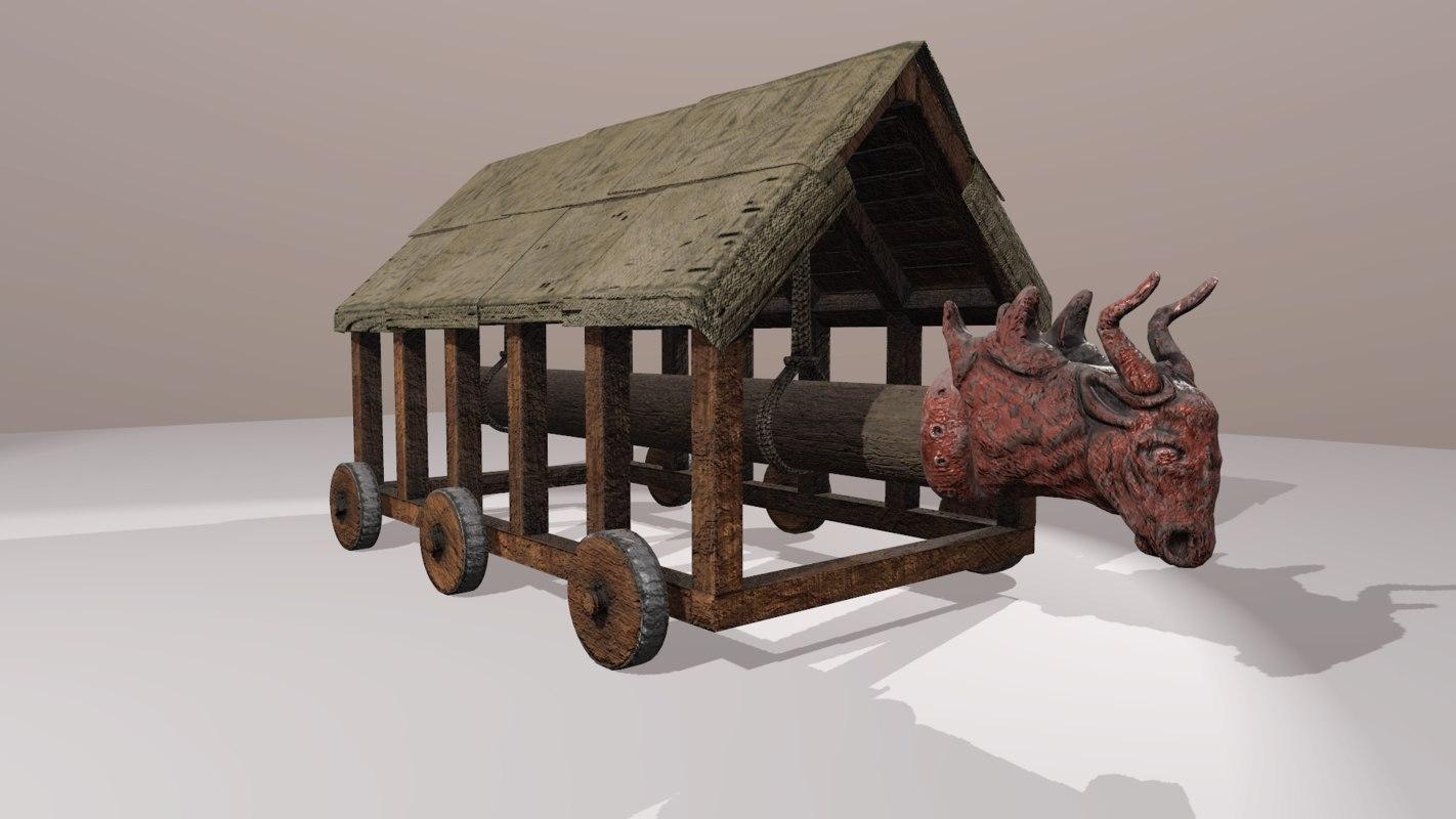 3D battering ram model